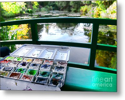 Painting In Giverny Metal Print