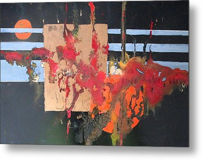 Painting Is Poetry Which Is Seen And Not Heartd Metal Print by Patricia Mayhew Hamm