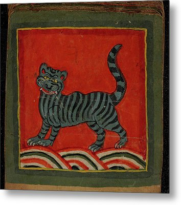 Painting Of A Member Of The Cat Family Metal Print by British Library