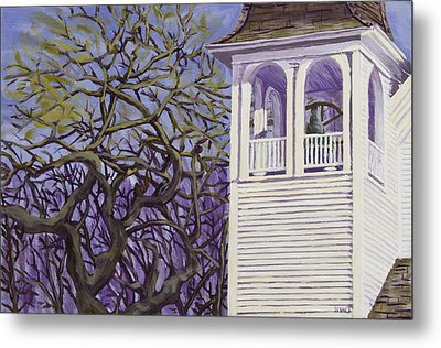 Country Church And Old Tree In Rural Maine Metal Print by Keith Webber Jr