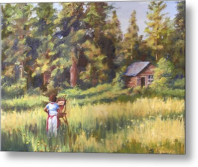 Painting Plein Aire In Idaho Metal Print