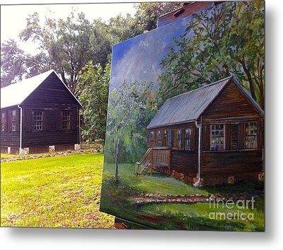 Painting Sams Cabin Metal Print