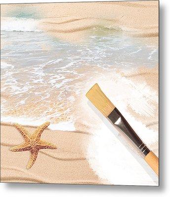 Painting The Beach Metal Print by Amanda Elwell