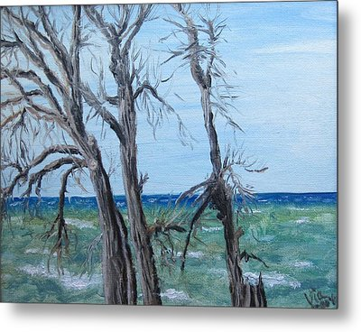 Painting - Waiting For Spring - Lake Ontario Metal Print by Judy Via-Wolff