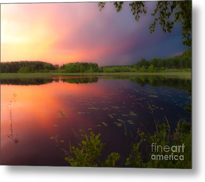 Painting With Stormy Light Metal Print