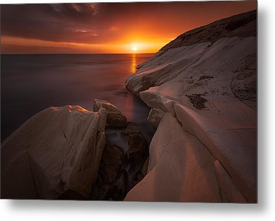 Painting With The Light Metal Print by Tomasz Huczek