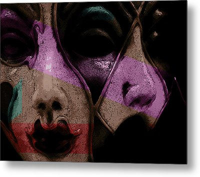 Metal Print featuring the digital art Pair by Galen Valle