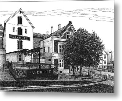 Pakkhuset Metal Print by Janet King