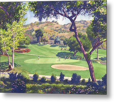 Pala Mesa Golf Course Metal Print by Mary Helmreich