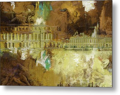 Palace And Park Of Versailles Metal Print by Catf