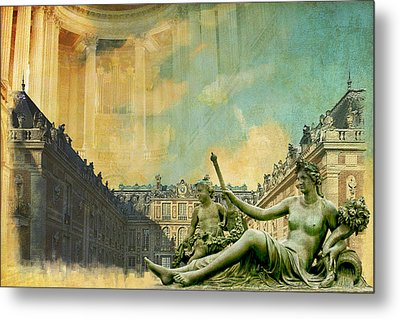 Palace And Park Of Versailles Unesco World Heritage Site Metal Print by Catf