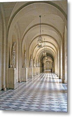 Palace Corridor Metal Print by Ann Horn