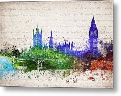 Palace Of Westminster Metal Print by Aged Pixel