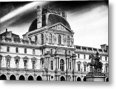 Palais Du Louvre Metal Print by John Rizzuto