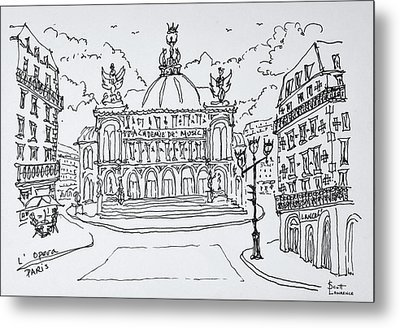 Palais Garnier Opera House, Paris Metal Print