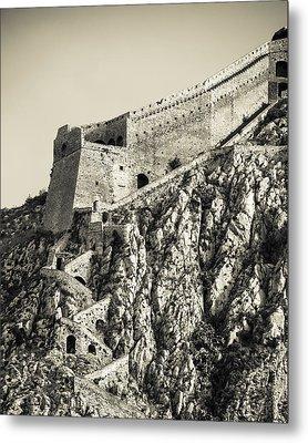 Palamidi Fortress Stairs Metal Print by David Waldo