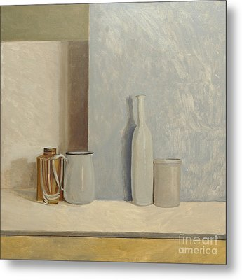 Pale Grey And Blue  Metal Print by William Packer