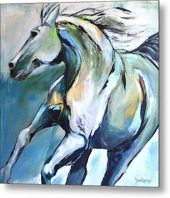 Pale Horse Metal Print by Cher Devereaux
