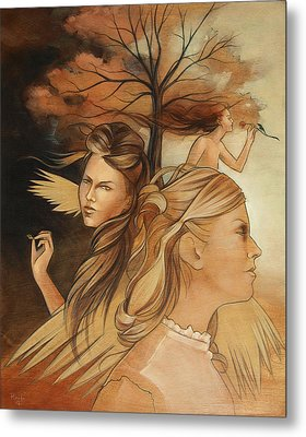 Pale Moonlight Mysticism Metal Print by Jacque Hudson