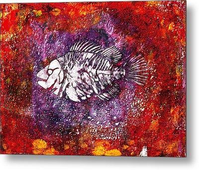Paleo Fish Metal Print by Bellesouth Studio