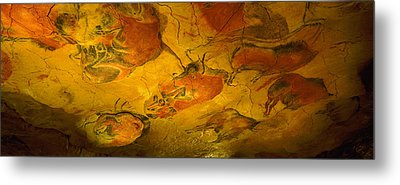Paleolithic Paintings, Altamira Cave Metal Print by Panoramic Images