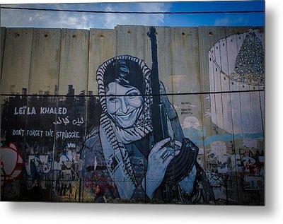 Palestinian Graffiti Metal Print by David Morefield