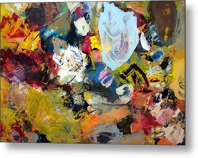 Palette Abstract Metal Print by Michelle Calkins
