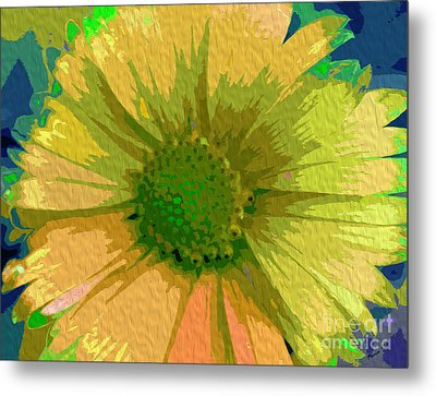 Palette Knife Coneflower Metal Print