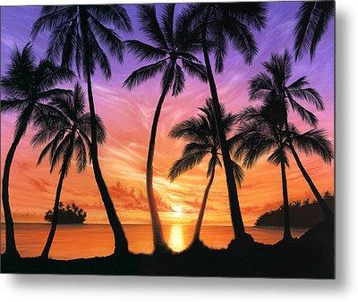 Palm Beach Sundown Metal Print