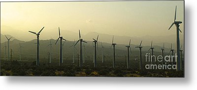 Palm Desert Wind Mills Metal Print by Gregory Dyer