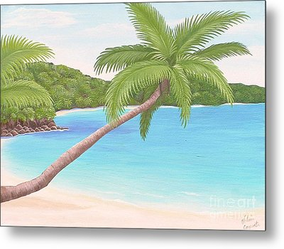 Palm In Paradise Metal Print