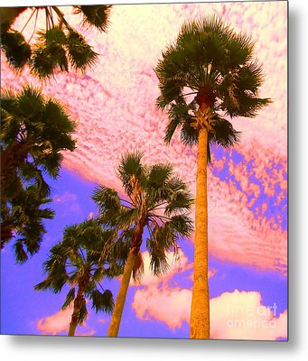 Palm In The Clouds Metal Print by Ann Johndro-Collins
