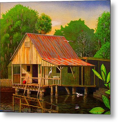 Palm Island Crab House  Metal Print by Buzz Coe