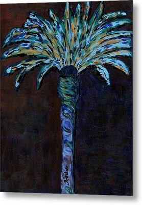 Palm On Purple  Metal Print by Oscar Penalber