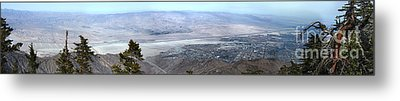 Palm Springs Panoramic View - 01 Metal Print by Gregory Dyer