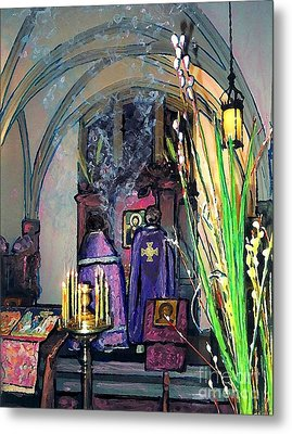 Palm Sunday Liturgy Metal Print by Sarah Loft