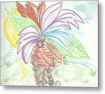 Palm Tree Metal Print by Becky Sterling