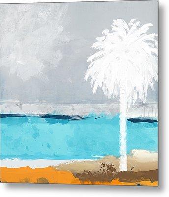 Palm Tree Metal Print by Galia Nof Taboch