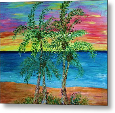 Palm Trees Metal Print by Janet Immordino