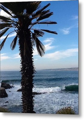 Metal Print featuring the photograph Palm Waves by Susan Garren