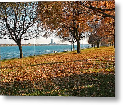 Palmer Park In The Fall Metal Print