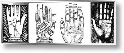 Palmistry Chart Metal Print