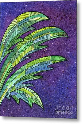 Palms Against The Night Sky Metal Print by Diane Thornton