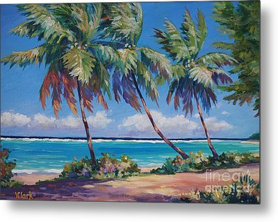 Palms At The Island's End Metal Print by John Clark