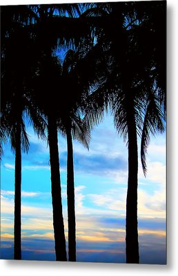 Palms Metal Print by Kara  Stewart