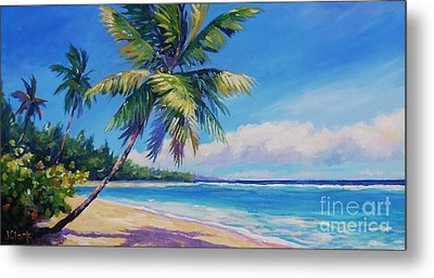 Palms On Tortola Metal Print by John Clark
