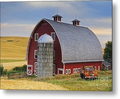 Palouse Barn - Est. 1919 Metal Print by Mark Kiver