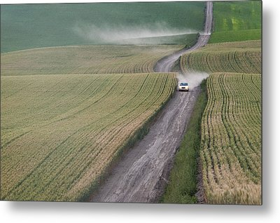 Palouse Dust Trail Metal Print by Latah Trail Foundation