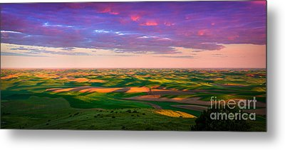 Palouse Land And Sky Metal Print by Inge Johnsson