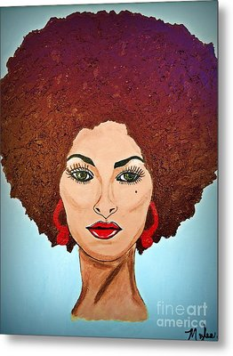 Pam Grier C1970 The Original Diva Metal Print by Saundra Myles